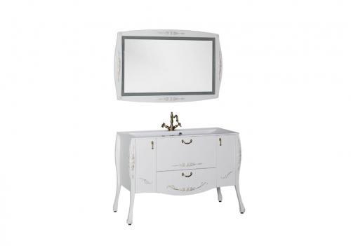 Мебель для ванной Виктория белый глянец золото