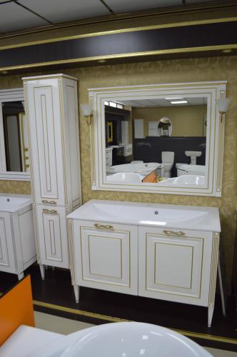 Мебель для ванной Паола белый патина
