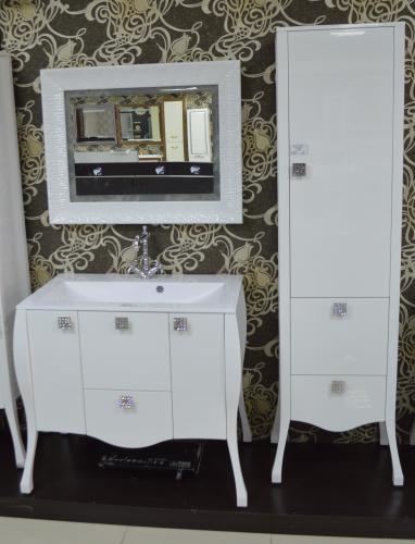 Мебель для ванной Мадонна цвет белый сваровски