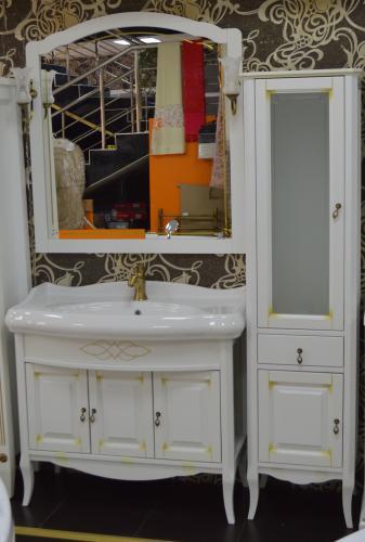Мебель для ванной Лоренцо белый раковина Виктория