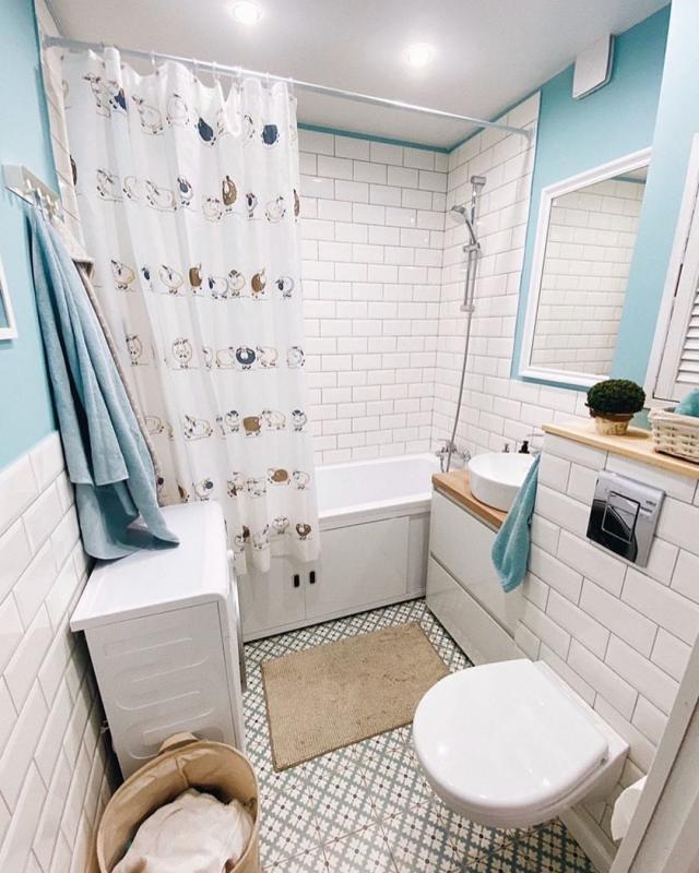 Ремонт в ванной комнате 3,8 м2