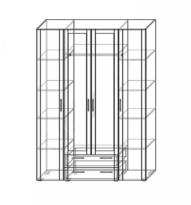 Шкафы распашные - изображение №2 на mebelny95.ru