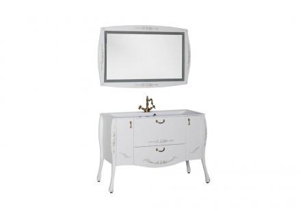 Мебель для ванной Виктория белый глянец золото - фото 1