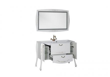 Мебель для ванной Виктория белый глянец золото - фото 3