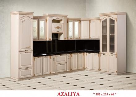 Кухня Азалия угловая 385 *235 - фото 1